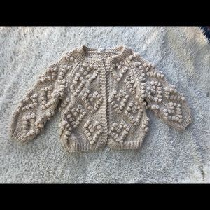 Chiceish knit your love chunky cardigan cream